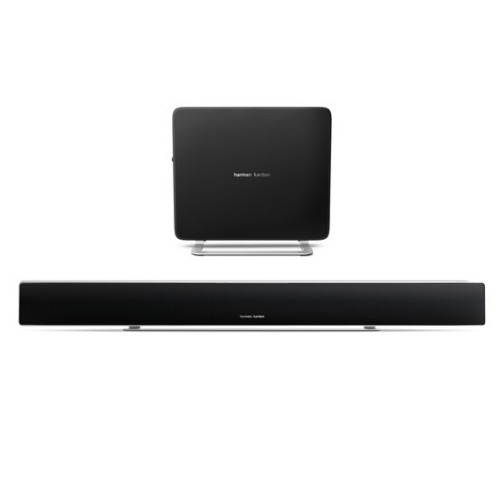 Sabre SB 35 - Black - Devastatingly slim home entertainment soundbar with compact subwoofer. - Hero