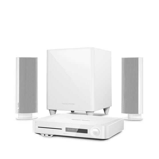 BDS 485S - White - 2.1-channel, 330-watt, 4K upscaling Blu-ray Disc™ System with Spotify Connect, AirPlay and Bluetooth® technology. - Hero
