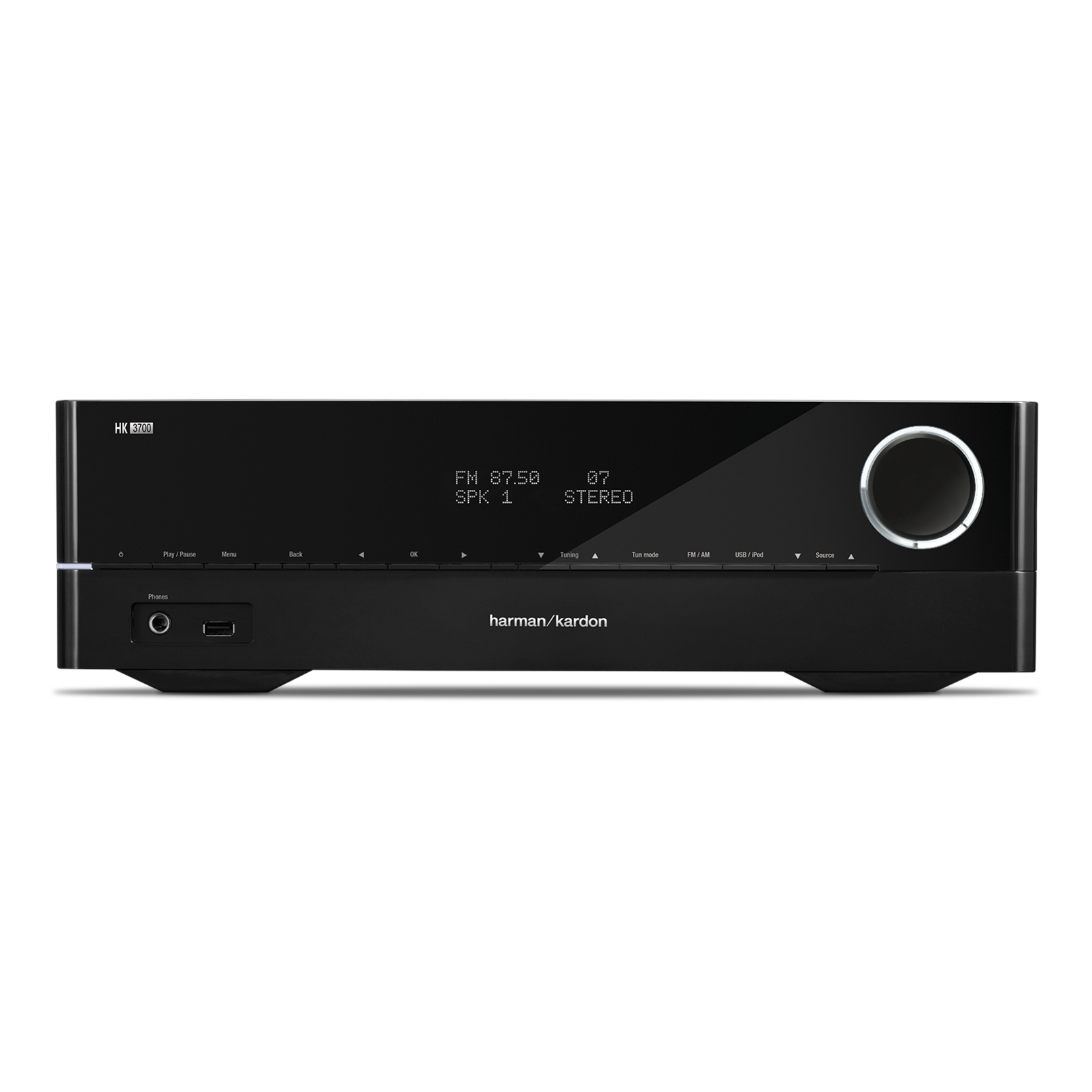 HK 3700 - Black - 170 watt stereo receiver with network connectivity - Hero