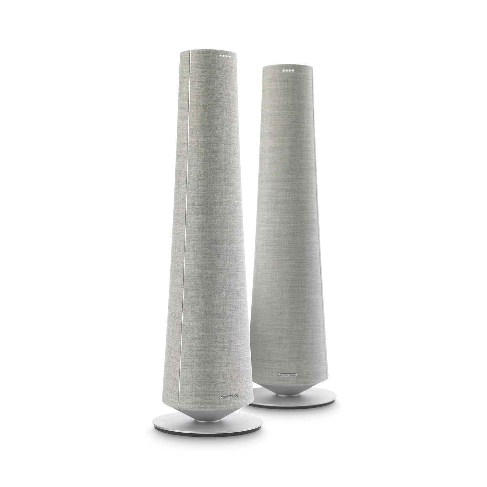 Harman Kardon Citation Tower - Grey - Smart Premium Floorstanding Speaker that delivers an impactful performance - Hero